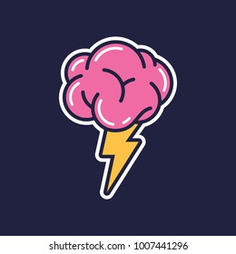Brainstorming creative idea abstract icon.