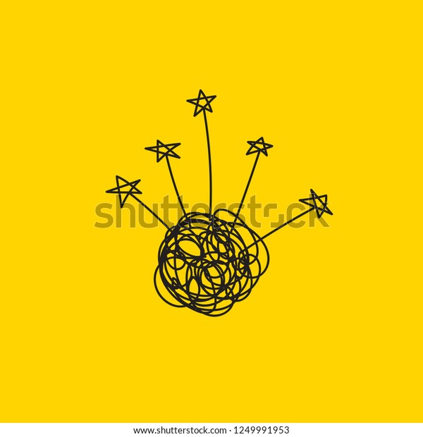 Brainstorming Creative Ideas Insights Tangled Tangle Stock Vector Royalty Free 1249991953