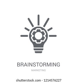 Brainstorming icon. Trendy Brainstorming logo concept on white background from Marketing collection. Suitable for use on web apps, mobile apps and print media.