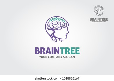 Braintree logo template. Will be perfect for technological, IT or other smart business.