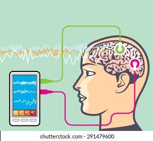 Brainwave Monitoring Vector