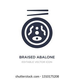 braised abalone icon on white background. Simple element illustration from Food and restaurant concept. braised abalone icon symbol design.