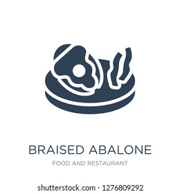 braised abalone icon vector on white background, braised abalone trendy filled icons from Food and restaurant collection, braised abalone vector illustration