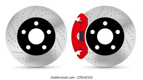 Brake disc - vector isolated