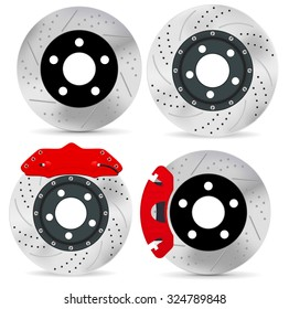 Brake disc. Vector isolated on white background..
