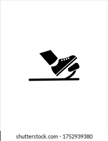 brake pedal with foot icon,vector best flat icon.