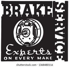 Brake Service - Retro Ad Art Banner