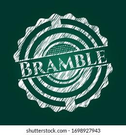 Bramble chalk emblem written on a blackboard. Vector Illustration. Detailed.
