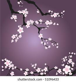 фотообои branch spring vector