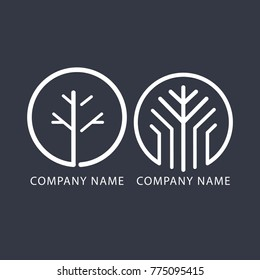 branch and tree logo for company