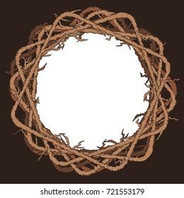 branch wreath frame - Halloween vector background