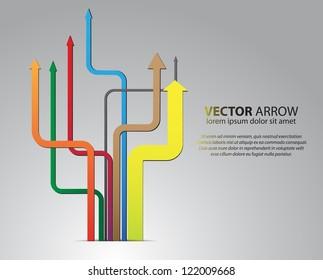 branching vector arrows