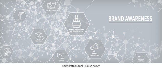 Brand Ambassador Thin Line Outline Icon Web Banner Set w Megaphone, Influencer Marketing Person and Representative