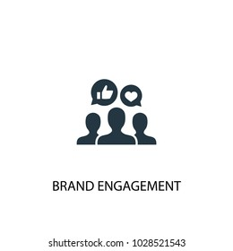 Brand engagement icon. Simple element illustration. Brand engagement symbol design from Social Media Marketing collection. Can be used in web and mobile.