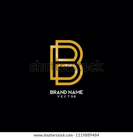 brand logo template monogram b symbol stock vector royalty free