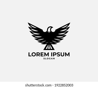 brand logotype with eagle bird
