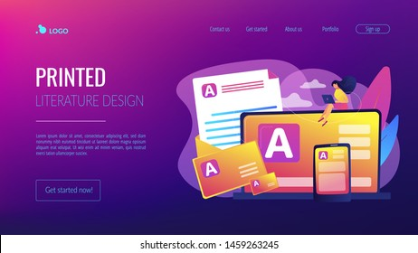 Brand marketing, corporate identity, logo design. Corporate literature, printed literature design, brand representation strategy concept. Website homepage landing web page template.
