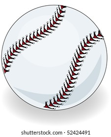 Brand new baseball illustration vector
