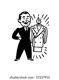 A Brand New Suit - Retro Clip Art