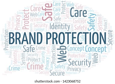 Brand Protection word cloud. Wordcloud made with text only.