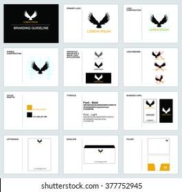 Branding, corporate identity guideline design
