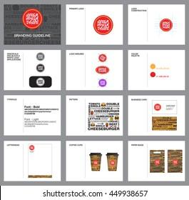 Branding, corporate identity guideline design.
