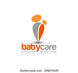 Branding Identity Corporate Baby Care vector logo design