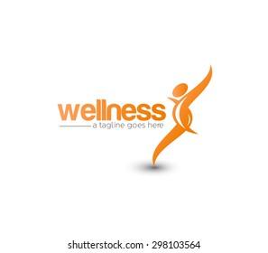 Branding Identity Corporate Wellness vector logo design