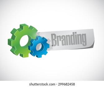 branding industrial gear sign concept illustration design graphic