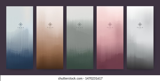Branding Packaging abstract background, logo banner voucher, watercolor. Green, Red, Blue, Sky, White, Pink, Gold, Paper Coffee and Chocolate texture. Vector illustration.