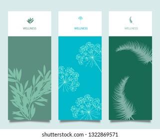 Branding Packaging Flower nature background, logo banner voucher, spring summer tropical, vector illustration - Vector