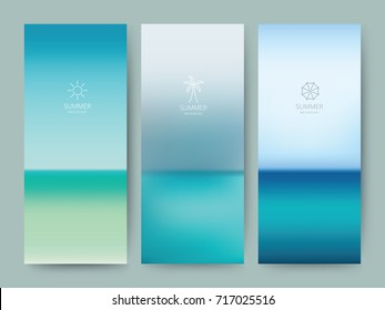Branding Packaging gradient abstract background, line logo icon banner voucher, watercolor Blue Sea fabric pattern. vector illustration.