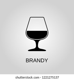 Brandy icon. Brandy symbol. Flat design. Stock - Vector illustration