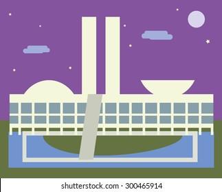 Brasilia landscape vector