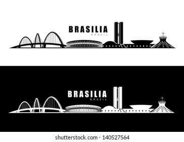 Brasilia skyline - vector illustration