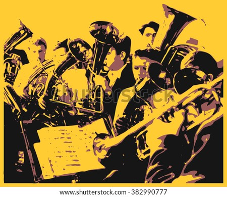 Brass Band Stock Vector (Royalty Free) 382990777 - Shutterstock