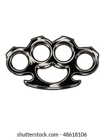 Brass knuckles vector illustration