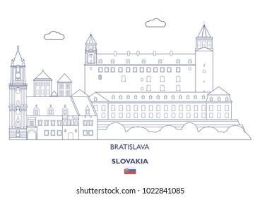 Bratislava Linear City Skyline, Slovakia