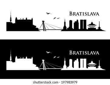 Bratislava skyline - vector illustration