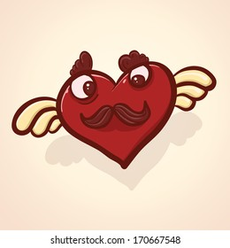 Brave cartoon heart