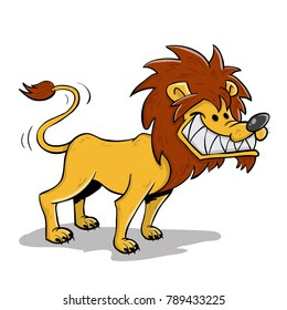 Brave and courageous lion