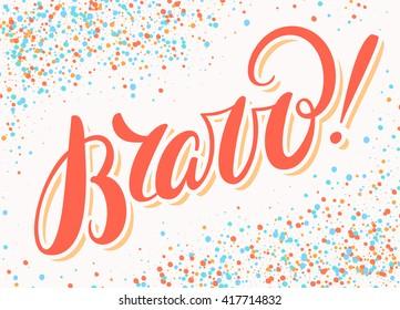 Bravo! Congratulations card.