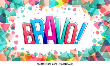 Bravo! Isolated vector illustration word