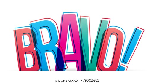 Bravo! Isolated vector illustration word