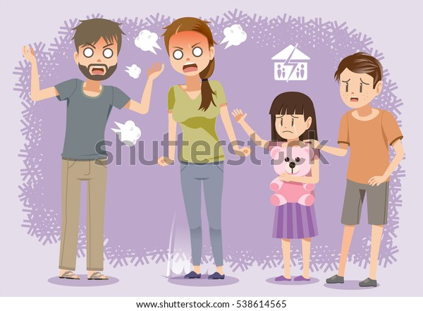 Brawl in the Family.The negative aspects of family relationships. Problem of not understanding each other.
