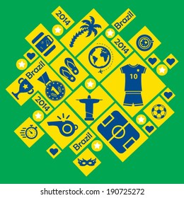 Brazil 2014 icons