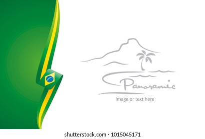 Brazil abstract flag brochure cover poster wall mural background vector