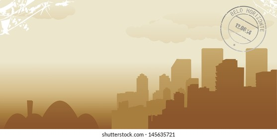 brazil belo horizonte abstract skyline