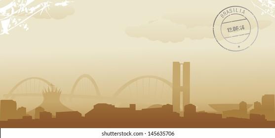 brazil brasilia abstract skyline