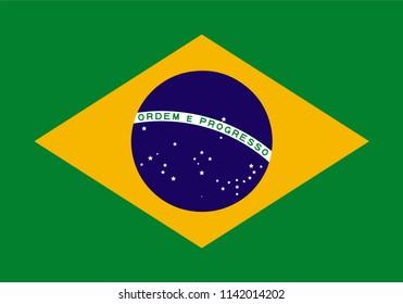 Brazil Brazilian Country Flag Illustration Design